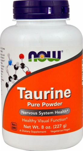 NOW  Taurine Powder Perspective: front