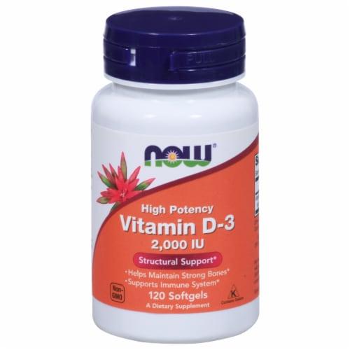 Now Vitamin D3 2000 IU Softgels Perspective: front
