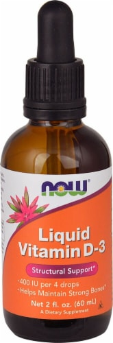 NOW Foods Liquid Vitamin D-3 Perspective: front