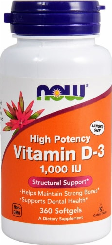 NOW Foods  Vitamin D-3 Perspective: front