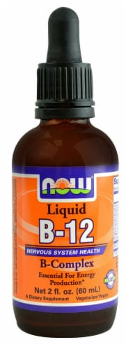 NOW Foods B-12 Liquid Perspective: front
