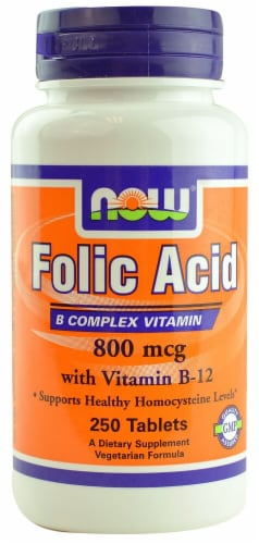 NOW Foods  Folic Acid Perspective: front