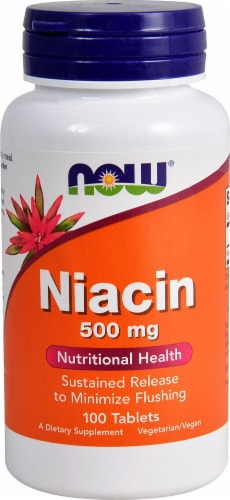 NOW Foods  Niacin Sustained Release Perspective: front