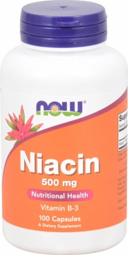 Now Niacin 500 mg Perspective: front
