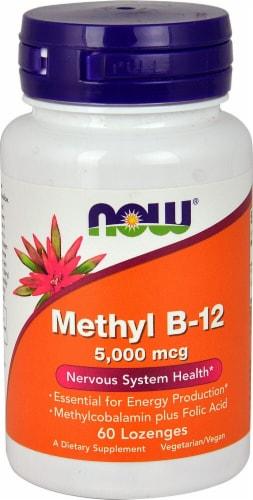 NOW Foods Methyl B-12 Lozenges 5000mcg Perspective: front