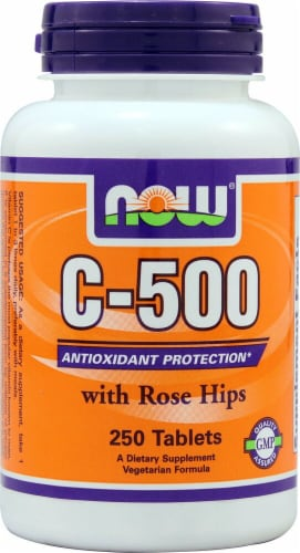 NOW Foods  C-500 with Rose Hips Perspective: front