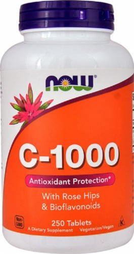 Now Antioxidant Protection C-1000 Tablets Perspective: front