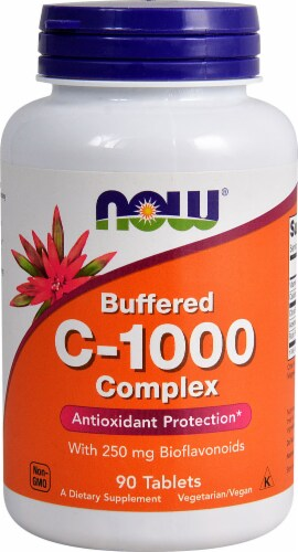 NOW Foods Buffered C-1000 Sustained Release Tablets Perspective: front