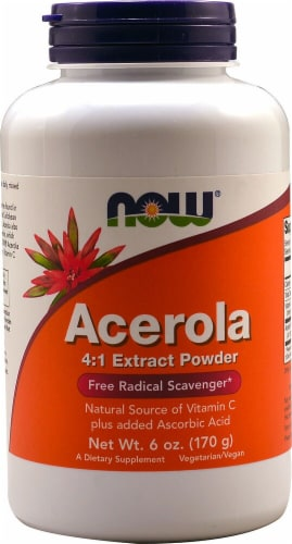 NOW  Acerola Powder Perspective: front