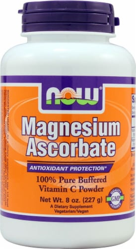 NOW Foods Magnesium Ascorbate Powder Perspective: front