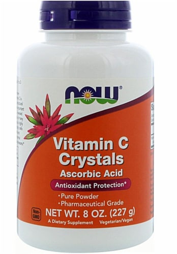 NOW Foods  Vitamin C Crystals Perspective: front