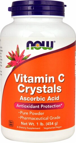 NOW   Vitamin C Crystals Perspective: front