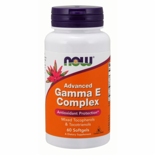 NOW Foods Advanced Gamma E Complex Antioxidant Protection Dietary Supplement Softgels Perspective: front