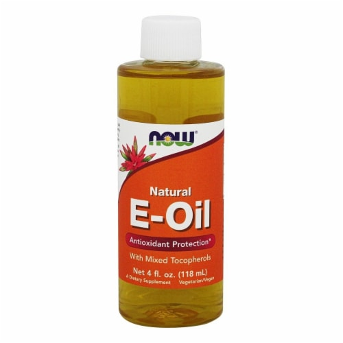NOW Foods Natural Vitamin E Oil Antioxidant Protection with Mixed Tocopherols, 4 Ounces Perspective: front