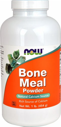 NOW   Bone Meal Powder Perspective: front