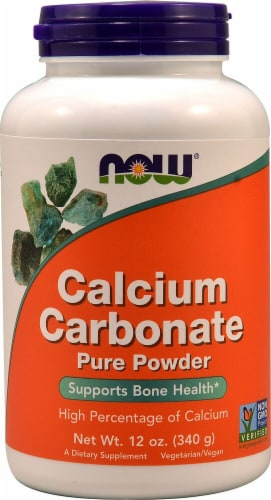 NOW  Calcium Carbonate Pure Powder Perspective: front
