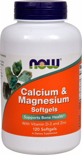 NOW Calcium & Magnesium Softgels Perspective: front