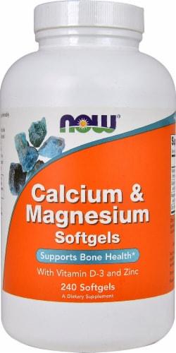 NOW Foods  Calcium & Magnesium Perspective: front