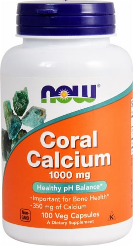 NOW Foods Coral Calcium Veg Capsules 1000 mg Perspective: front