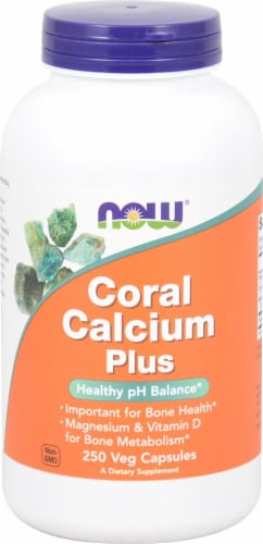 NOW Foods  Coral Calcium Plus Perspective: front