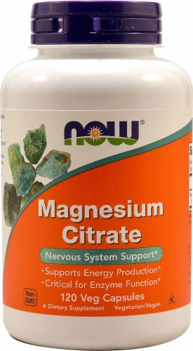 NOW  Magnesium Citrate Perspective: front