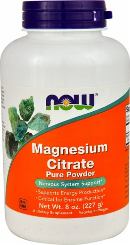 NOW Foods  Magnesium Citrate  Pure Powder Perspective: front