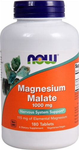 NOW Foods  Magnesium Malate Perspective: front