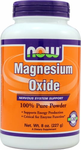 NOW Foods  Magnesium Oxide Pure Powder Perspective: front