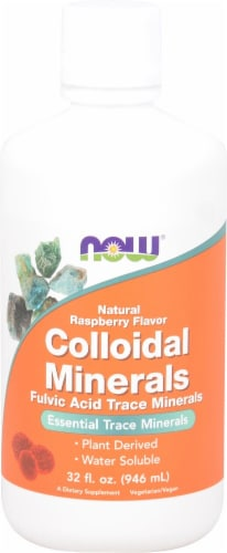 NOW   Colloidal Minerals   Natural Raspberry Perspective: front