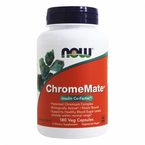 NOW Foods ChromeMate® Veg Capsules Perspective: front