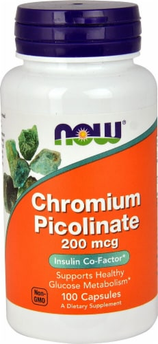 NOW Foods  Chromium Picolinate Perspective: front
