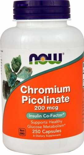 NOW  Chromium Picolinate Perspective: front