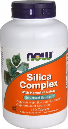 NOW   Silica Complex with Horsetail Extract Perspective: front