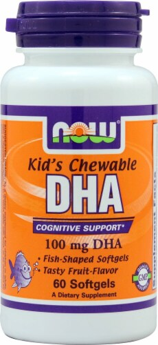 NOW Foods  Kid's Chewable DHA   Fruit Perspective: front