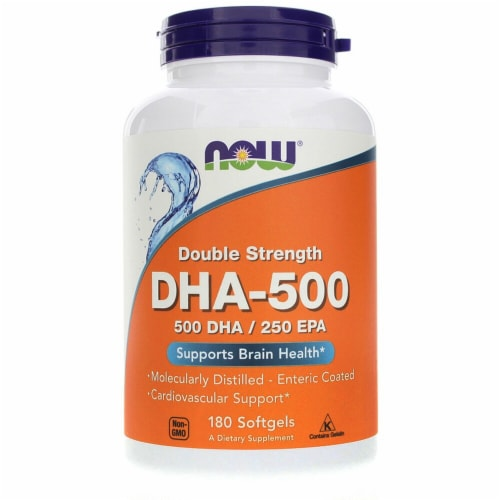 NOW Foods DHA-500 Softgels Perspective: front