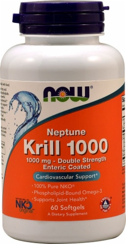 NOW Foods Neptune Krill Oil 1000 Softgels Perspective: front