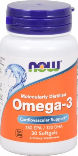 NOW Foods  Molecularly Distilled Omega-3 Perspective: front
