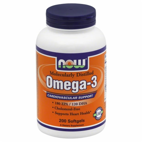 NOW Foods Omega-3 Softgels 1000mg Perspective: front
