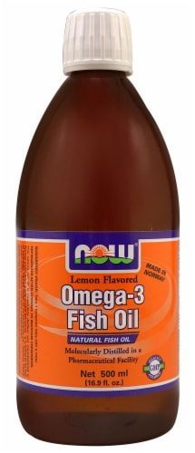 NOW Foods  Omega-3 Fish Oil   Lemon Perspective: front