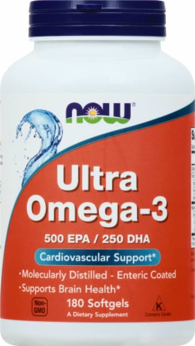 Now Ultra Omega 3 Fish Oil Softgels Perspective: front