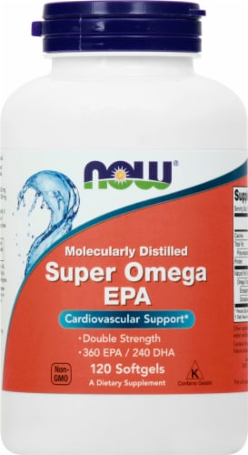 NOW Foods Super Omega EPA Softgels Perspective: front
