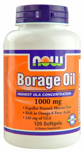 NOW Foods  Borage Oil Perspective: front