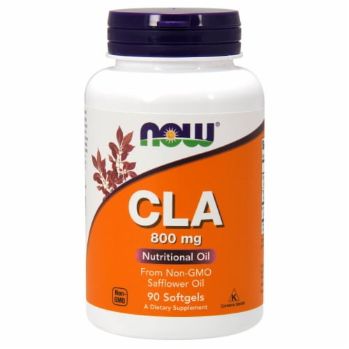 NOW Foods CLA Nutritional Oil Dietary Supplement Softgels 800mg Perspective: front