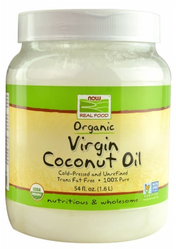 NOW Foods  Real Food Organic Virgin Coconut Oil Perspective: front