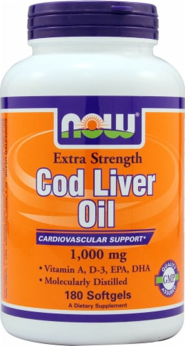 NOW Foods  Cod Liver Oil Perspective: front