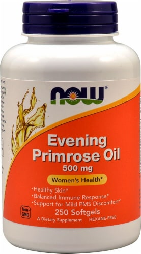 NOW Foods Evening Primrose Oil Softgels 500mg Perspective: front