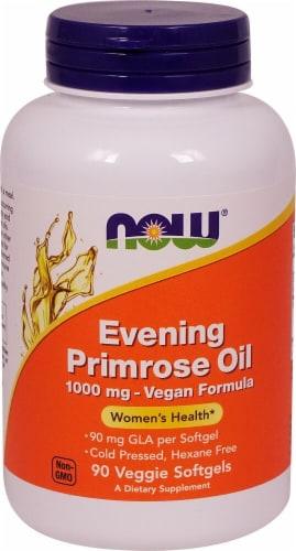 NOW Foods Evening Primrose Oil Veggie Softgels 1000mg Perspective: front