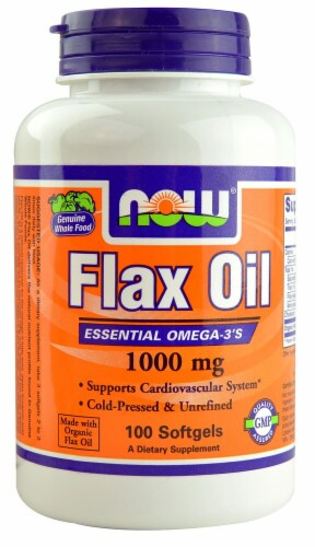 NOW Foods  Flax Oil Perspective: front
