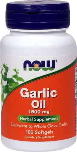 NOW Foods  Garlic Oil Perspective: front