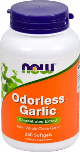 NOW Foods Odorless Garlic Concentrated Extract Softgels Perspective: front